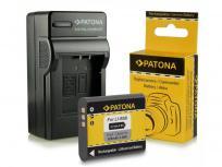 Patona Cargador + Batería para Olympus Li-90B