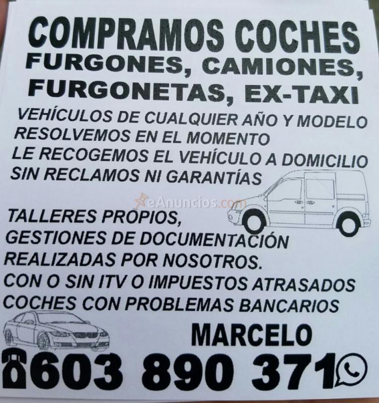 COMPRAMOS COCHES