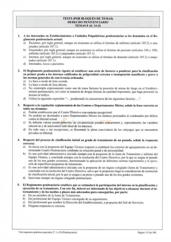 TEMARIO FUNCIONARIO DE PRISIONES PDF