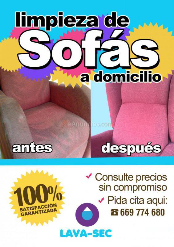 Limpieza de sofas a domicilio 1154467 for Anuncios de limpieza