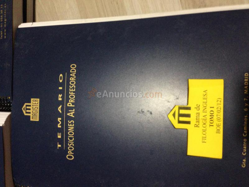 Temario Oposiciones Maestros Inglés.Magister.Con progra