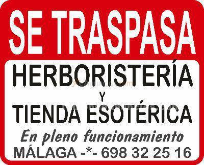 Traspaso herboristería y tienda de esoterismo en málaga