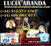 Tarotista de prestigio TV y Radio Lucia Aranda
