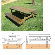 Muebles de jardin mesa picnic de segunda mano - Bancos de jardin de segunda mano ...